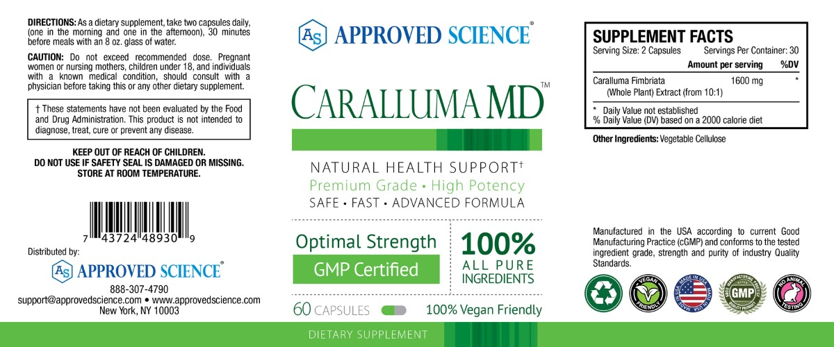 Caralluma MD Supplement Facts